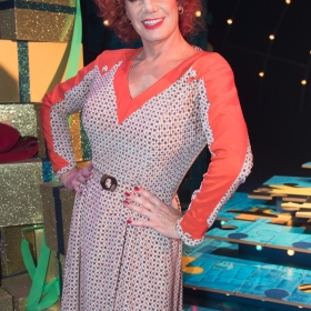 Craig Revel Horwood (Miss Hannigan) - Annie at the Piccadilly Theatre - Photo credit Craig Sugden