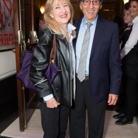 Don Black & guest at Annie opening night, 5 June 2017. © Craig Sugden
