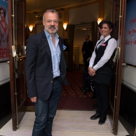 Graham Norton at Annie opening night, 5 June 2017. © Craig Sugden