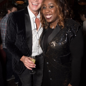 Craig Revel Horwood and Chizzy Akudolu - Annie at the Piccadilly Theatre - Photo credit Craig Sugden