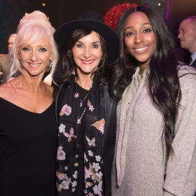 Debbie McGee, Shirley Ballas and Alexandra Burke - Annie at the Piccadilly Theatre - Photo credit Craig Sugden