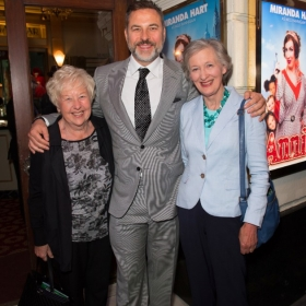 Annie on opening night: Kathleen & David Walliams & Diana Hart. © Craig Sugden
