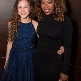 Lola Moxom & Dominique Moore at Annie opening night, 5 June 2017. © Craig Sugden