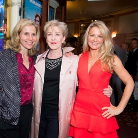 Sally Phillips, Patricia Hodge & Sarah Hadland at Annie opening night, 5 June 2017. © Craig Sugden