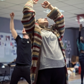 Rehearsals for Hair © Claire Bilyard