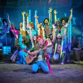 Production image from Hair's 2016 Manchester run at the Hope Mill Theatre. © Anthony Robling