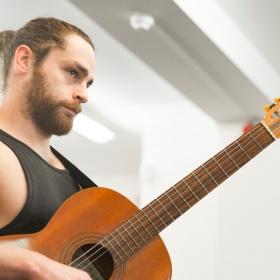 Leon Scott in Honk! rehearsals. © Nick Rutter
