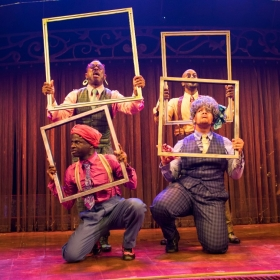 Cast of Five Guys Named Moe © Helen Maybanks