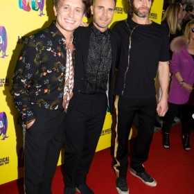 Mark Owen. Gary Barlow & Howard Donald on Press night. © Phil Treagus