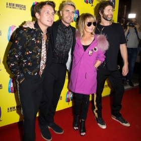 Mark Owen, Gary Barlow, Lulu, Howard Donald on Press night. © Phil Treagus