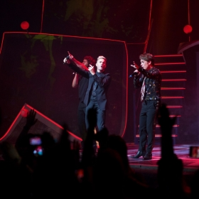 Take That onstage on on Press night. © Phil Treagus