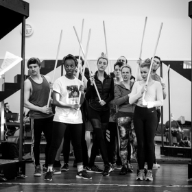 Cast in The Addams Family rehearsals. © Craig Sugden