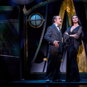 Cameron Blakely & Samantha Womack in The Addams Family. © Matt Martin