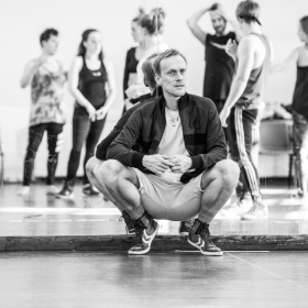 Choreographer Alistair David in The Addams Family rehearsals. © Craig Sugden