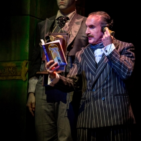 Dickon Gough & Cameron Blakely in The Addams Family. © Matt Martin