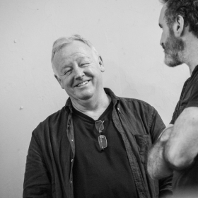 Les Dennis & Cameron Blakely in The Addams Family rehearsals. © Craig Sugden