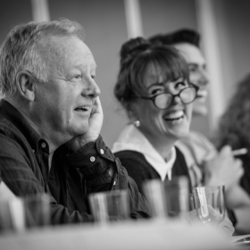 Les Dennis & Charlotte Page in The Addams Family rehearsals. © Craig Sugden