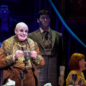 Les Dennis & Dickon Gough in The Addams Family. © Matt Martin