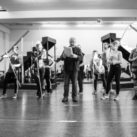Les Dennis & cast in The Addams Family rehearsals. © Craig Sugden