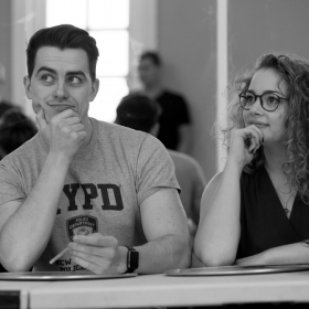 Oliver Ormson & Carrie Hope Fletcher in The Addams Family rehearsals. © Craig Sugden