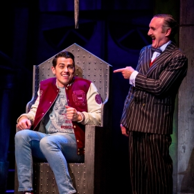 Oliver Ormson & Cameron Blakely in The Addams Family. © Matt Martin