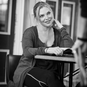 Samantha Womack in The Addams Family rehearsals. © Craig Sugden