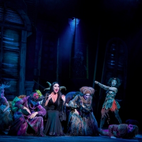 Samantha Womack & cast in The Addams Family. © Matt Martin