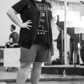 Scott Paige in The Addams Family rehearsals. © Craig Sugden