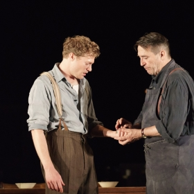 Sam Reid & Ciaran Hinds in Girl From the North Country. © Manuel Harlan