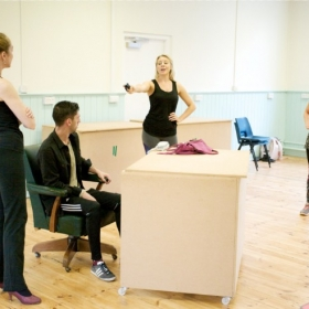 In rehearsals for 9 to 5