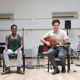 Charlie Fink & Jade Anouka in Rehearsal for Cover My Tracks