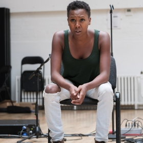Jade Anouka in Rehearsal for Cover My Tracks
