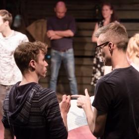 Bryan Hodgson & Elliot Styche in rehearsal for Salad Days. © Scott Rylander