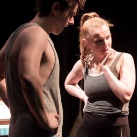 Tom Norman & Emma Lloyd in rehearsal for Salad Days. © Scott Rylander