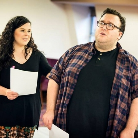 Bananaman in rehearsals. © Pamela Raith