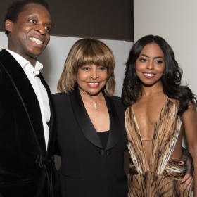 Kobna Holdbrook-Smith, Tina Turner and Adrienne Warren at Tina Press Night - © Craig Sugden
