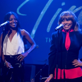 Adrienne Warren & Tina Turner at industry launch in November 2017