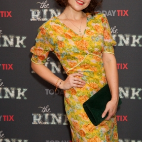 Gemma Sutton at the press night for The Rink © Piers Allardyce