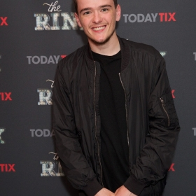 George Sampson at the press night for The Rink © Piers Allardyce