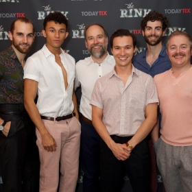 (L to R) Jason Winter, Elander Moore, Ross Dawes, Michael Lin, Stewart Clarke & Ben Redfern at the press night for The Rink © Piers Allardyce