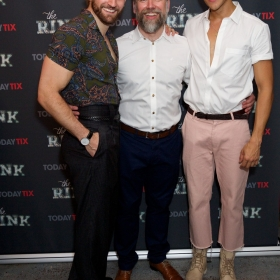 Jason Winter, Ross Dawes & Elander Moore at the press night for The Rink © Piers Allardyce