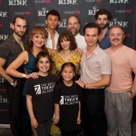The full cast of The Rink at the press night for The Rink © Piers Allardyce