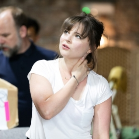in rehearsals for The Rink at Southwark Playhouse, May 2018. © Darren Bell