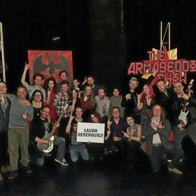 The Rasputin Rocks! team at Stockwell Playhouse, Nov 2017