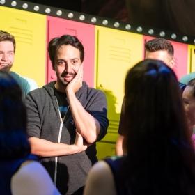 Lin-Manuel Miranda visits the British Theatre Academy's Bring It On, 2 Sep 2018. © Eliza Wilmot