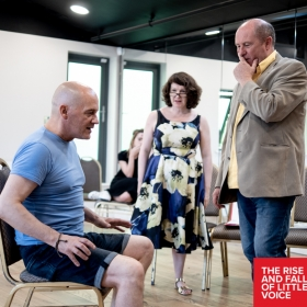 The Rise & Fall of Little Voice in rehearsals at The Barn Theatre, Cirencester. @ Barn Theatre, June 2018