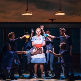Waitress at the Adelphi Theatre, March 2019. © Johan Persson