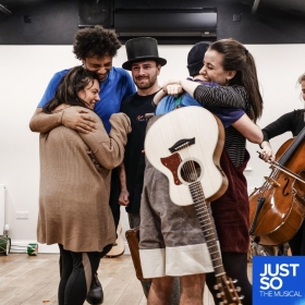 Just So in rehearsals at Cirencester's Barn Theatre, Nov 2018