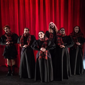 Sink the Pink's How to Catch a Krampus at the Pleasance Theatre, Nov 2018. © Ali Wright