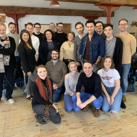 Amour rehearsals at Charing Cross Theatre, Apr 2019